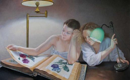 Francine Van Hove La Méga-flore 2008 peinture painting