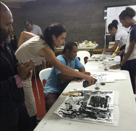 Betsy Eby, Cultural Exchange Artist with the United States Department of State, Art and Embassies, Papua new Guinea and Solomon Islands, March 2018