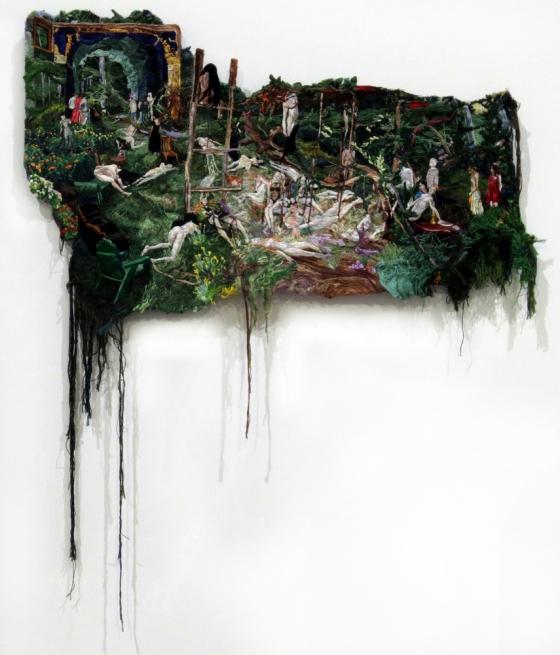 "Sophia Narrett: Turns ""Women's Work"" into Beautifully Disturbing Landscapes"