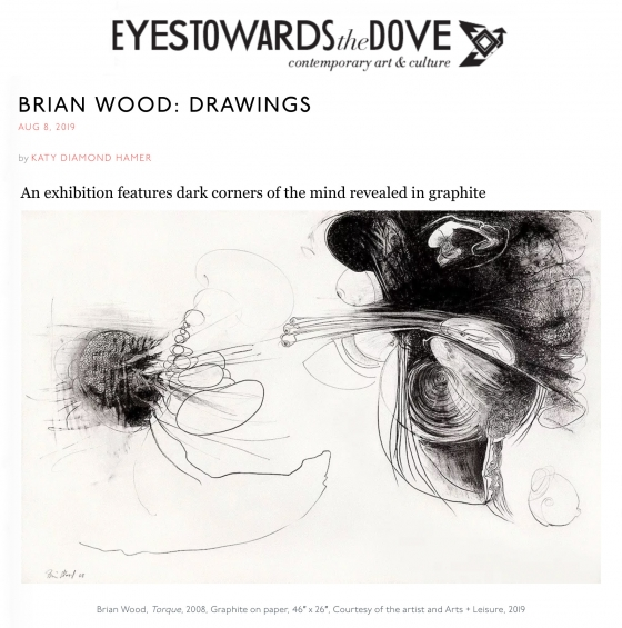 "Brian Wood ""Drawings"" featured on Eyes Towards the Dove"