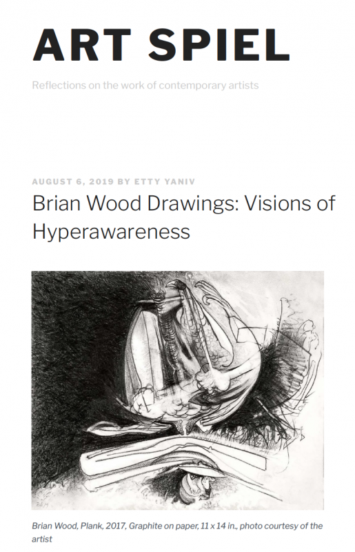 "Brian Wood ""Drawings"" featured on Art Spiel"