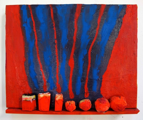 "Katherine Bradford ""Shelf Paintings"" at Arts+Leisure till Dec 14"