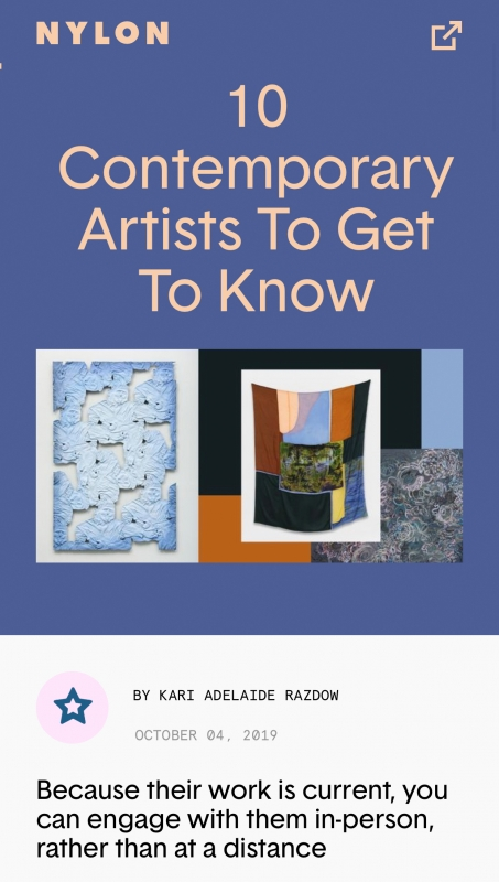 "Brian Wood in ""Ten Contemporary Artists to Get to Know"" by Kari Adelaide on NYLON"