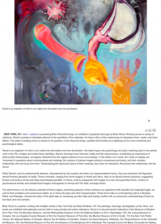"""Brian Wood """"Drawings"""" featured on Artdaily"""