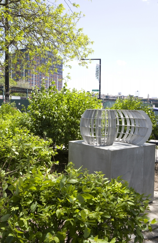 Mary Ann Unger's Unfurling is now on view at the NYC Parks Greeenstreet