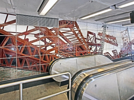 New subway line to feature works by 4 celebrated artists