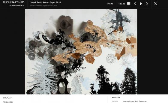Tomas Vu's Dymaxion Chronofile Featured in BLOUIN ARTINFO