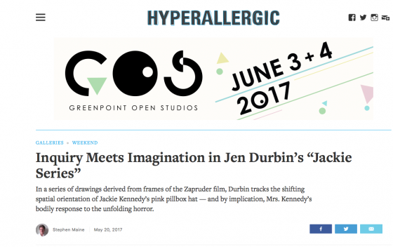 JEN DURBIN review in HYPERALLERGIC
