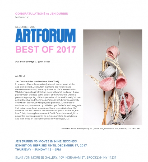 JEN DURBIN in ARTFORUM BEST OF 2017