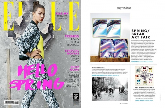 Samuel Jablon featured in Elle Mexico for SPRING/BREAK Art Fair