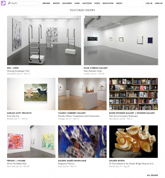 """Margaux Ogden """"Down The Rabbit Hole"""" featured show on Artsy's homepage"""