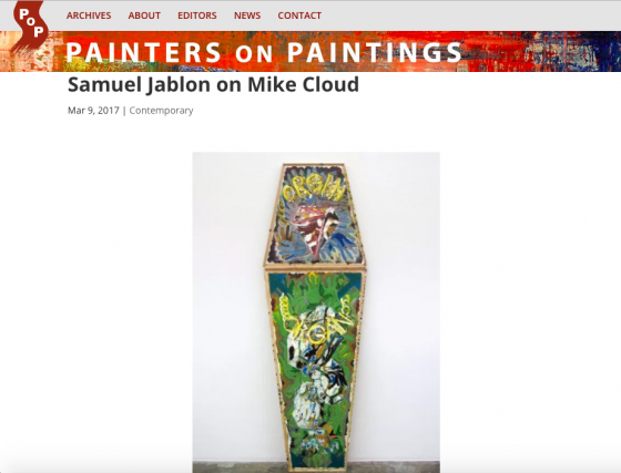 "Samuel Jablon on Mike Cloud featured on ""Painters on Paintings"""