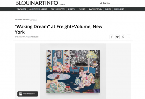 """Waking Dream"" featured on Blouin ARTINFO"