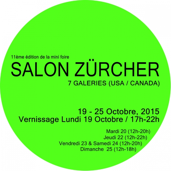 Freight+Volume at Salon Zürcher Paris Oct. 19-25 2015