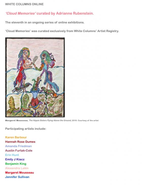 Benjamin King featured l Online Exhibition Curated by Adrienne Rubenstein