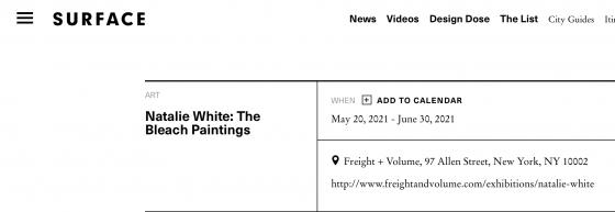 Natalie White: The Bleach Paintings
