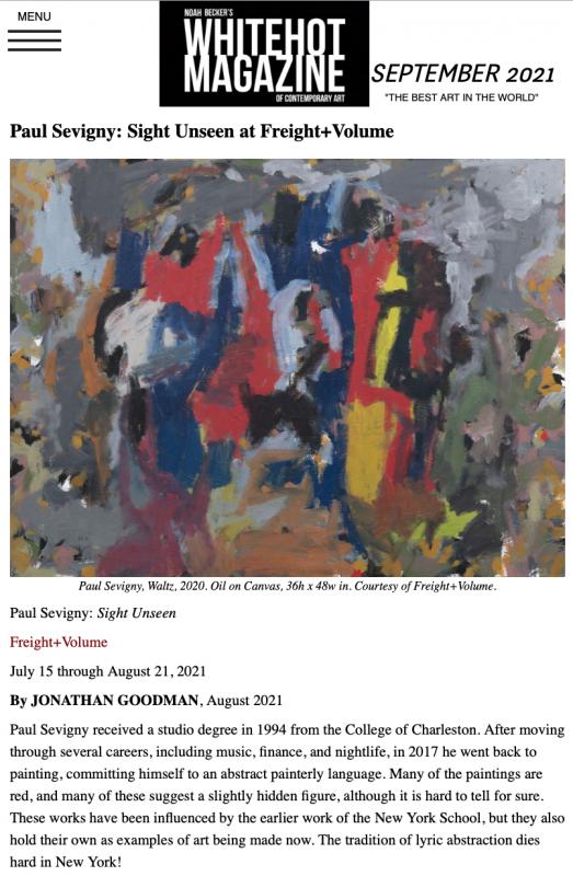 Paul Sevigny: Sight Unseen at Freight+Volume