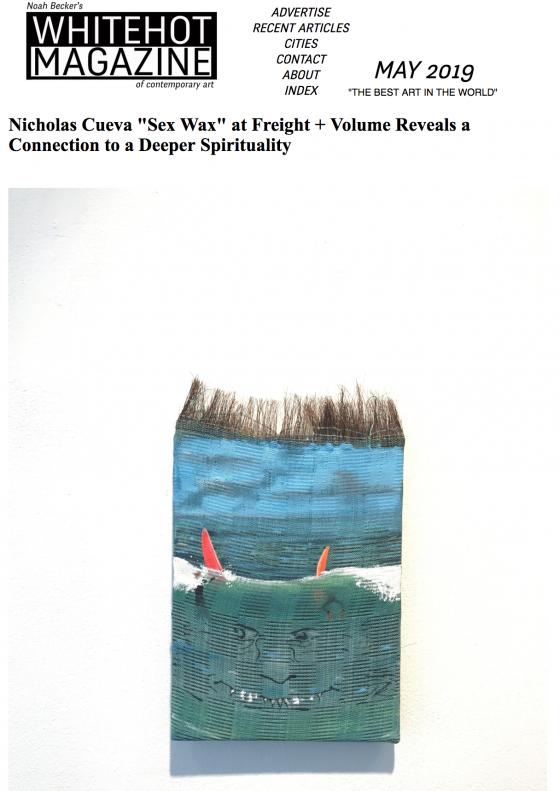 "Nicholas Cueva ""Sex Wax"" featured on Whitehot Magazine"