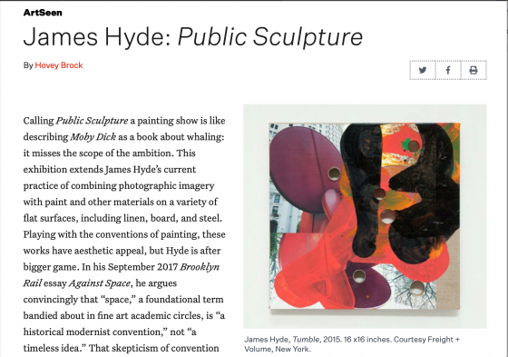 James Hyde: 'Public Sculpture'