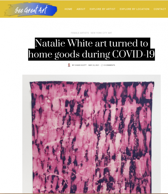 Natalie White art turned to home goods during COVID-19
