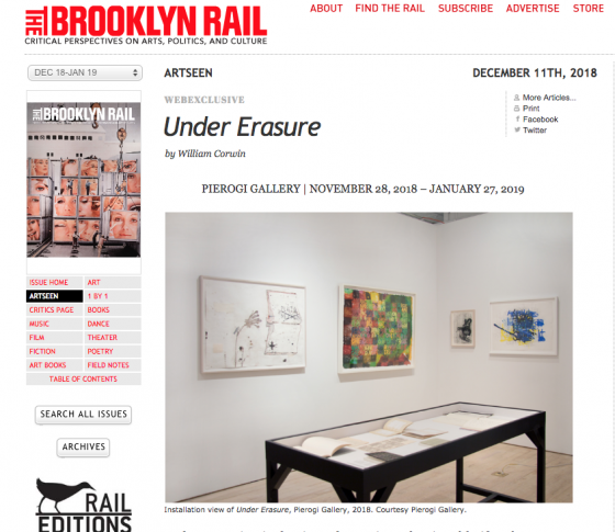 Samuel Jablon featured in Brooklyn Rail