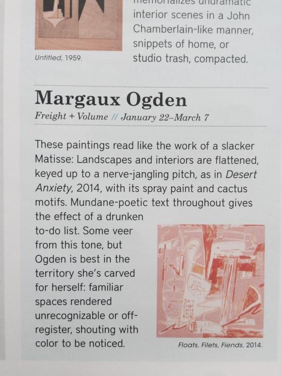 Margaux Ogden featured in BLOUIN ARTINFO