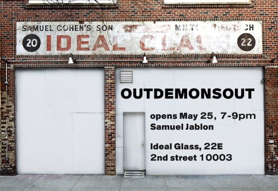 Ideal Glass Presents OUTDEMONSOUT, a Mural by Samuel Jablon, Opening Thursday, May 25, 7-9pm
