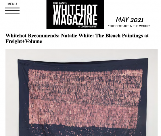 Whitehot Recommends: Natalie White: The Bleach Paintings at Freight+Volume