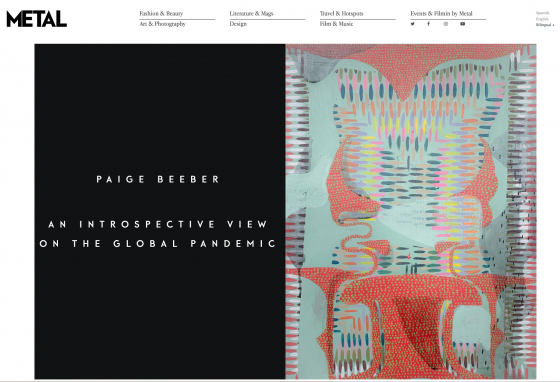 Paige Beeber: An Introspective View on the Global Pandemic