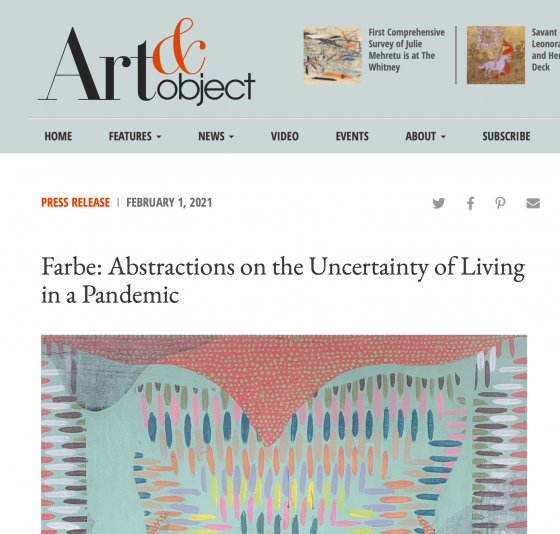 Farbe: Abstractions on the Uncertainty of Living in a Pandemic