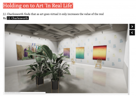 "Pungent Dystopia Featured in ArtReview in ""Holding on to Art 'In Real Life'"""