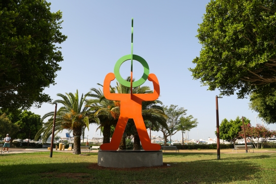 Art collector Lio Malca brings the sculpture Untitled (Headstand) by Keith Haring to Ibiza