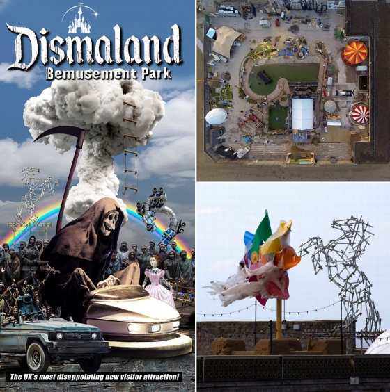 "Bill Barminski & Dietrich Wegner featured in Banksy's ""Dismaland"""