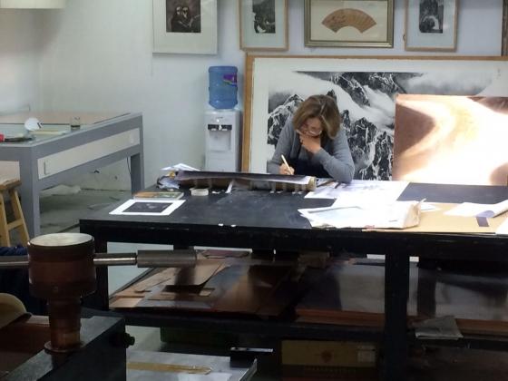Monique de Roux en résidence artistique
