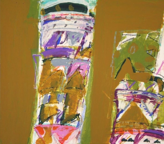 John Tun Sein UNTITLED ABSTRACT 18 2007 Mixed media on paper board 12.5 X 14 in.