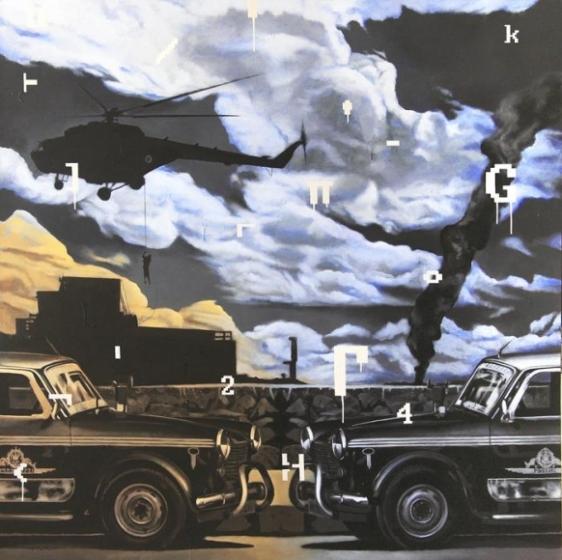 Baiju Parthan SPILL 2011 Acrylic on canvas 72 x 72 in.