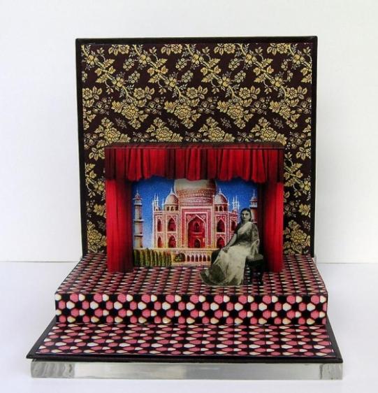 Asma Mundrawala GAME OVER 2007 Digital print on card 7 x 7 x 7 in.