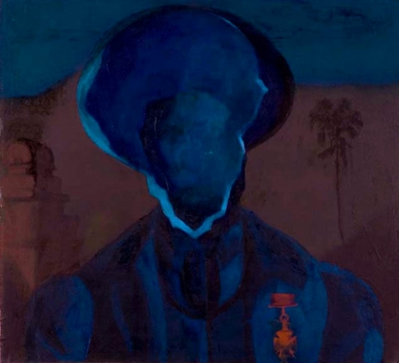 Ahmed Ali Manganhar HOLLOW MAN I Acrylic on board 20 x 23 in.