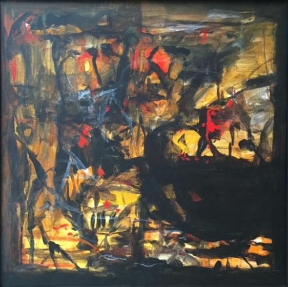 S.H Raza Untitled 1978 Acrylic on canvas 24 x 24 in.