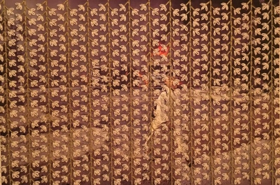 Fatima Munir UNTITLED 2 2015 Hand embroidery, ink jet on canvas 11 x 16 in.