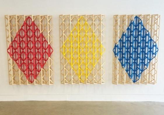 Rasheed Araeen THREE CHEERS FOR RODCHENKO 1971 (2015) Wood and paint 61 x 132 x 7 in