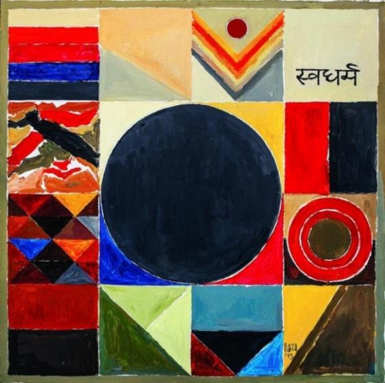 S.H. Raza Swadharma 2013 Acrylic on canvas 40 x 40 in.