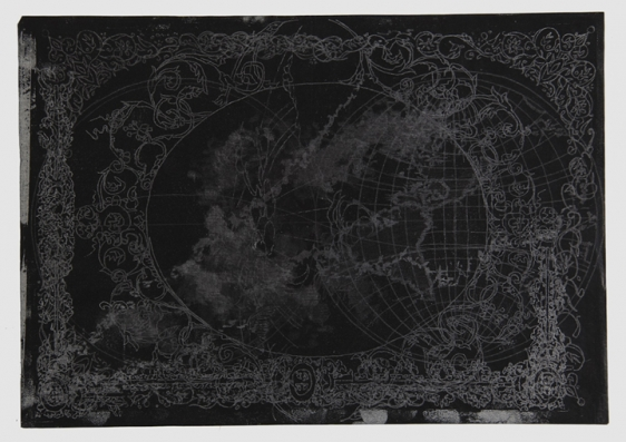 Saad Qureshi UNTITLED (PERSISTENCE OF MEMORY 1) 2013 Carving on carbon paper 15 x 18.5 in.