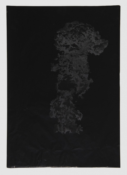 Saad Qureshi UNTITLED (PERSISTENCE OF MEMORY 4) 2013 Carving on carbon paper 18.5 x 15 in.