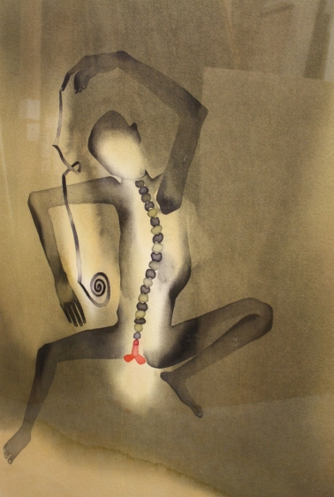 Atul Dodiya FAKIR WITH LONG NAIL - I 2002 Watercolor on paper 29.5 x 21.5 in.