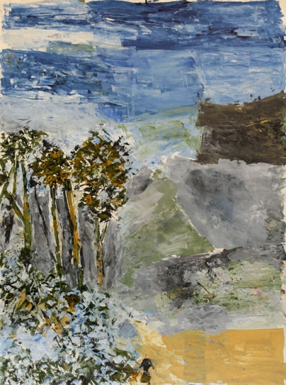 Ram Kumar UNTITLED LANDSCAPE 11 (LAND AND SKY) 2013 Acrylic on paper 30 x 22 in.