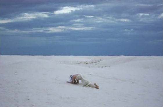 Mariam Ghani & Erin Ellen Kelly White Sands #2 (From the series Landscape Studies: New Mexico) 2008-10 Dye transfer print on aluminum 20 x 30 in.