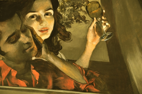 Salman Toor GIRL AND BOY WITH DRIVER 2013 Oil on canvas 53 x 58 in.