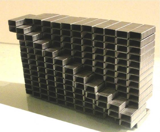 Pooja Iranna UNTITLED IV 2010 Staple pins 3.5 x 4.5 x 1.5 in.