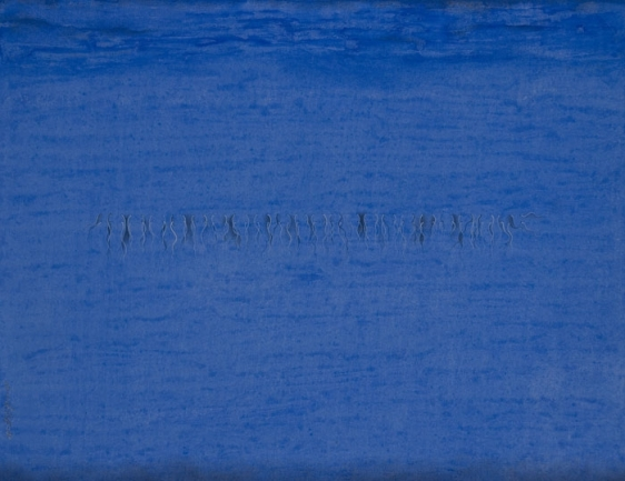 Sumaira Tazeen TAAR KASHI III (TO TAKE OUT THREADS) 2008 Opaque water based pigment on wasli 9 x 12 in.